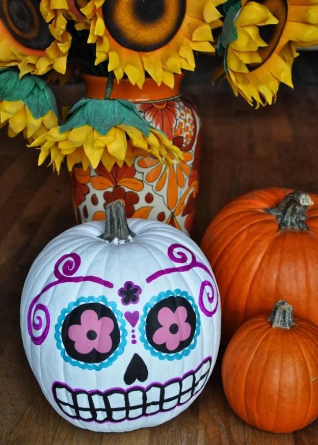 sugar-skull-pumpkin