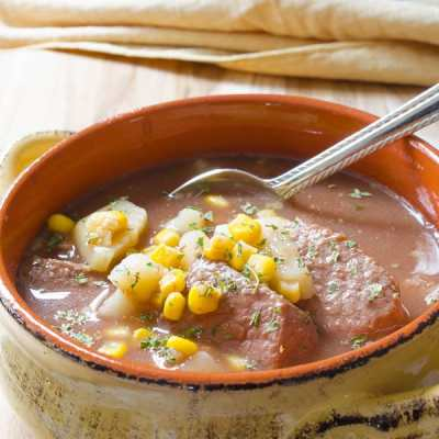 Crockpot Beef Stew with Corn