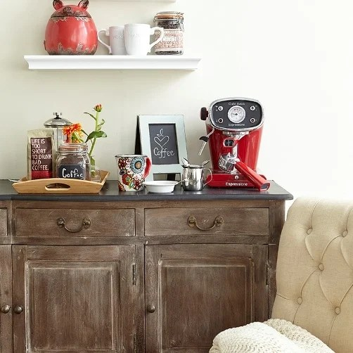 Room Reveals: Homegoods photo shoot {style challenge} How to create a gorgeous family room, chalkboard wall, grab and go station and a dining tablescape that serves multiple functions with everything from HomeGoods