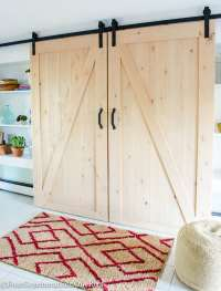 Our DIY Sliding Barn Doors {tutorial} - Four Generations ...