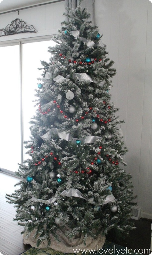 DIY-flocked-tree