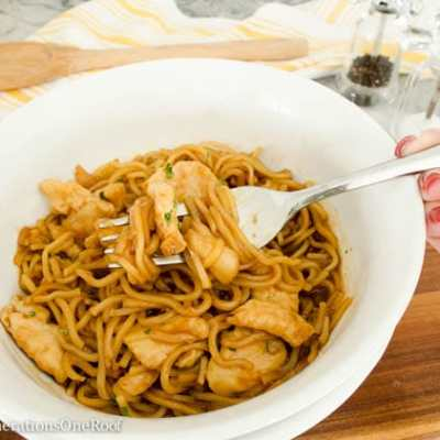 Easy Asian Chicken and Noodles dinner