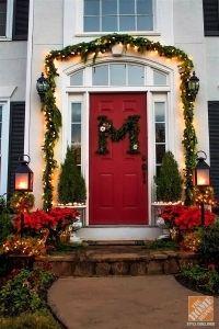 42 Christmas Ideas for Door + Porch Decor - Four ...
