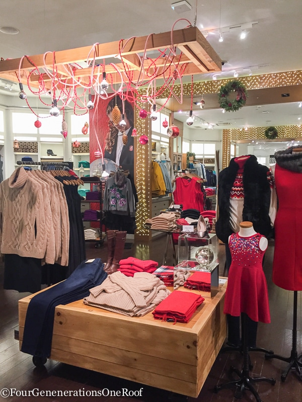 Holiday Shopping Copley Place Boston Lands' End Pop Up Store