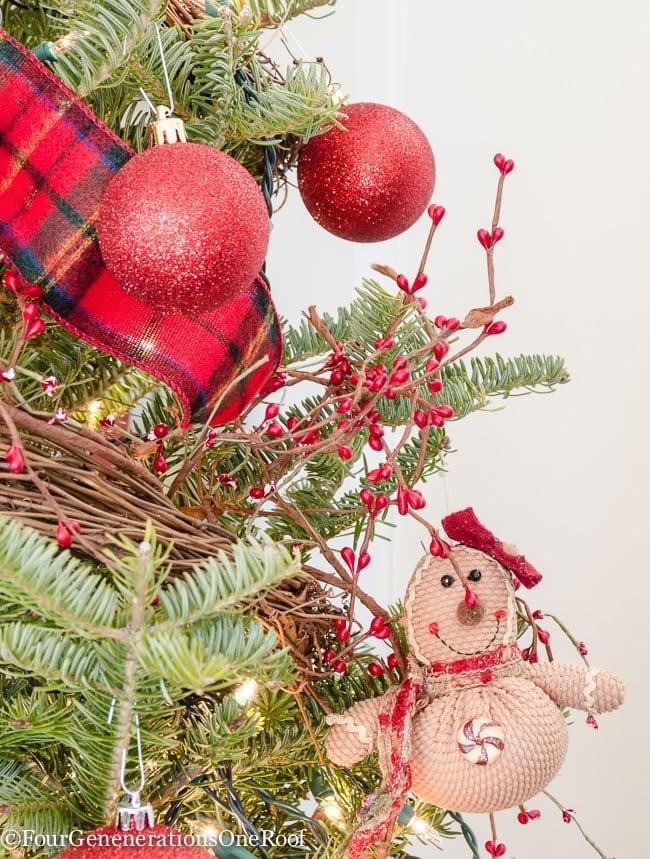 Traditional Christmas Home Tour 2015 Rustic Red Christmas Playroom - Study 2015