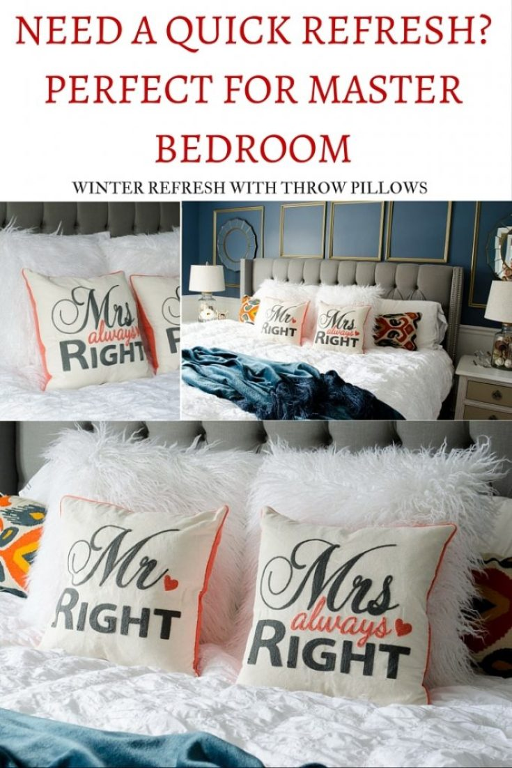 Need a quick bedroom refresh? Cute bedroom pillows