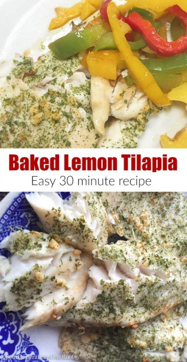 Baked Tilapia with Lemon and Garlic -  30 minute recipe