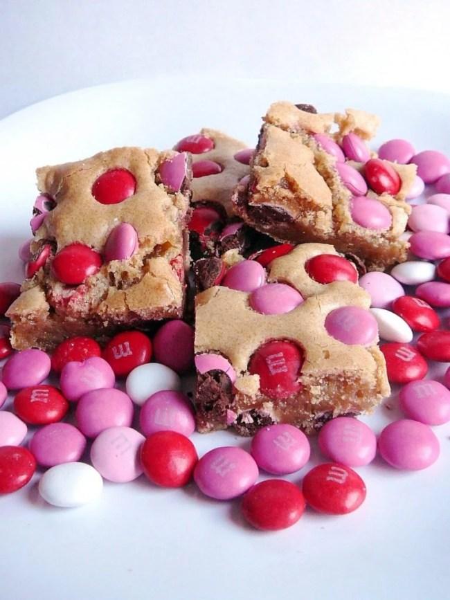 Valentine treat ideas: Brown Sugar Blondies by Baked Perfection