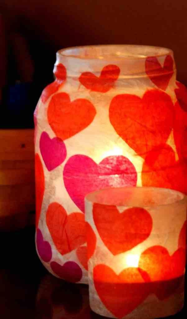 Valentine Mason Jar Ideas: Heart Mason Jars by Homemade Serenity