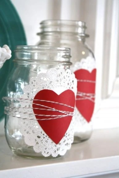 Valentine Mason Jar Ideas: Valentine Mason Jar by the Pleated Poppy