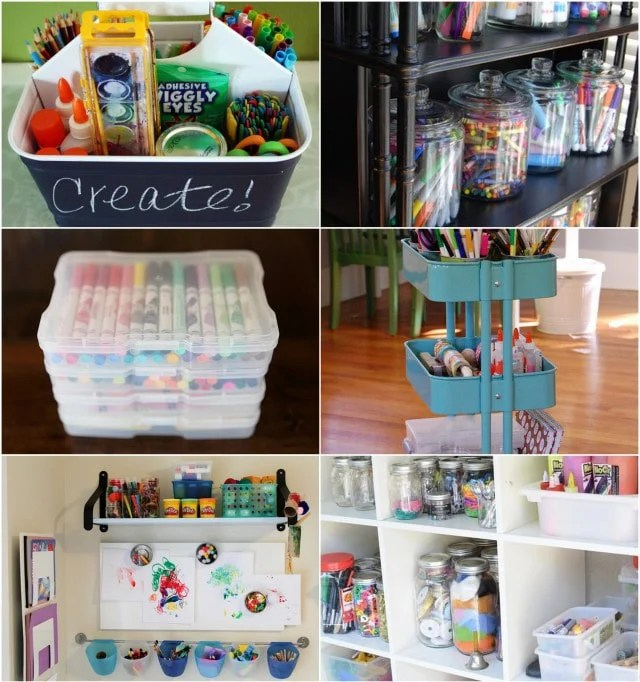 Art Supply Organization from Modern Parents Messy Kids