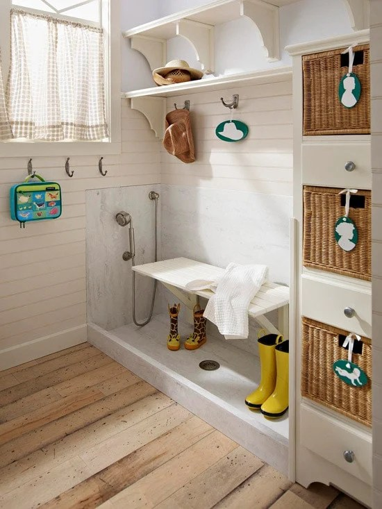 Stylish and Functional Mudrooms Ideas featured on Four Generations One Roof