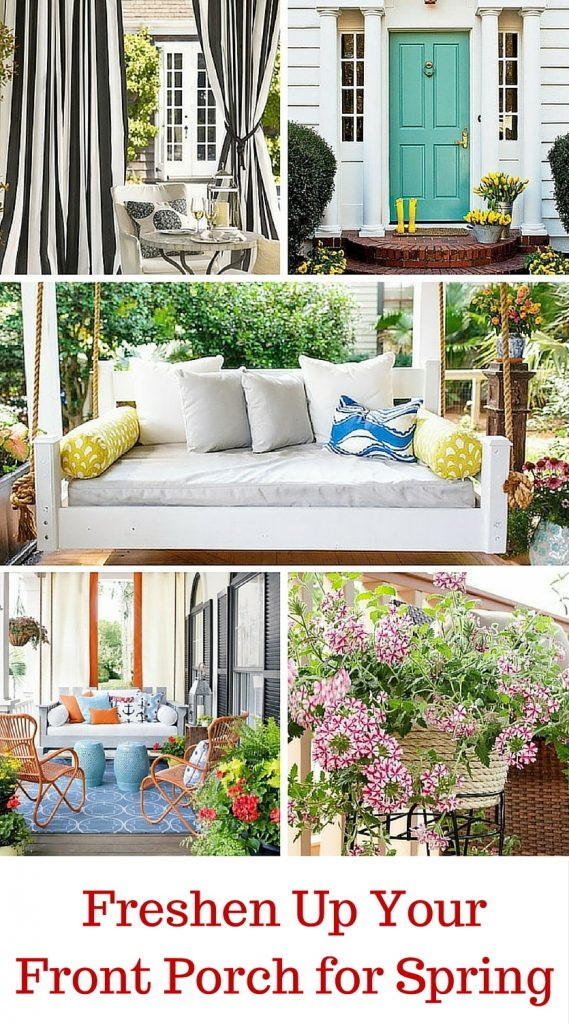 front porch ideas / Freshen up your Front Porch for Spring | Ideas and Inspiration for Front Porch Decor