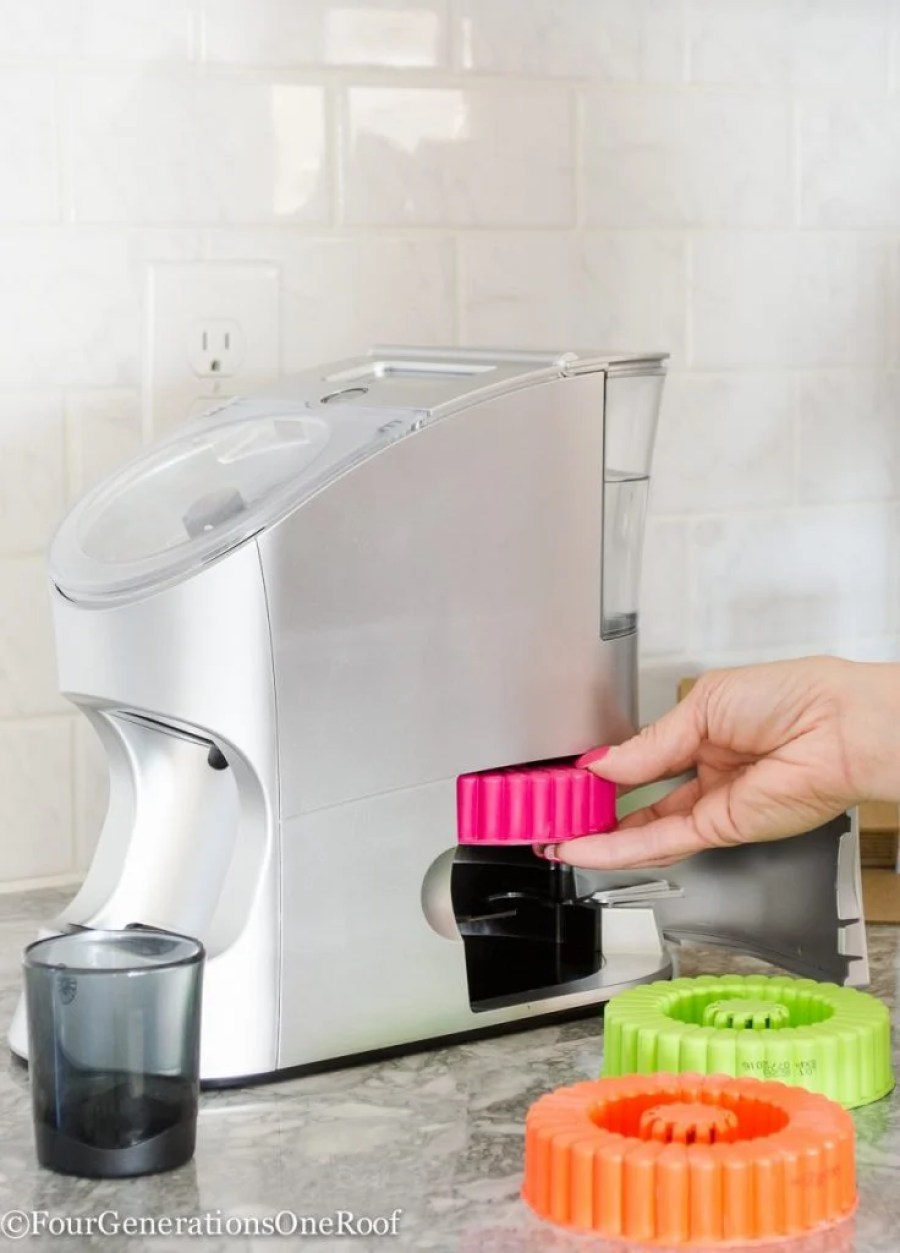 No more swallowing pills. Gorgeous small counter appliance that mixes vitamin/supplement with water