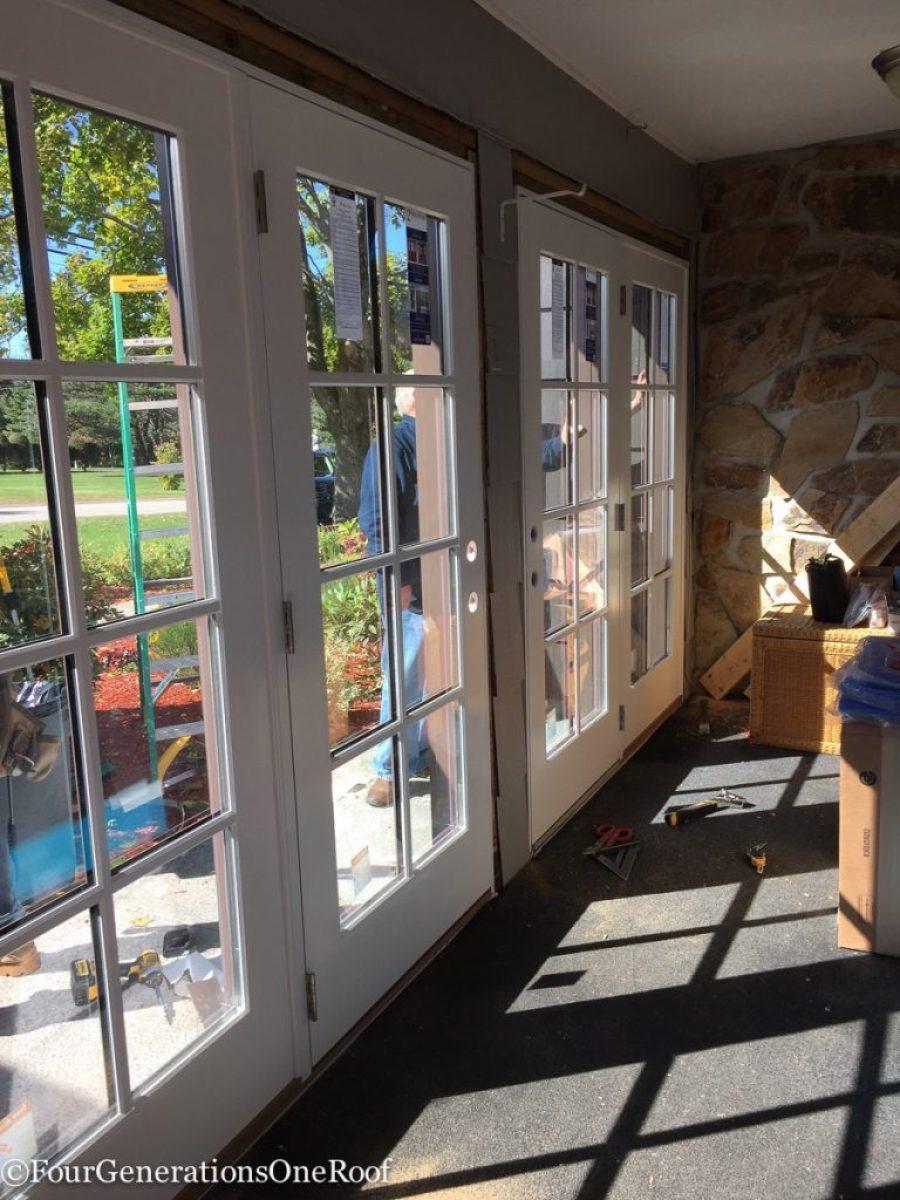 How to install a door / Installing new doors foyer renovation-44