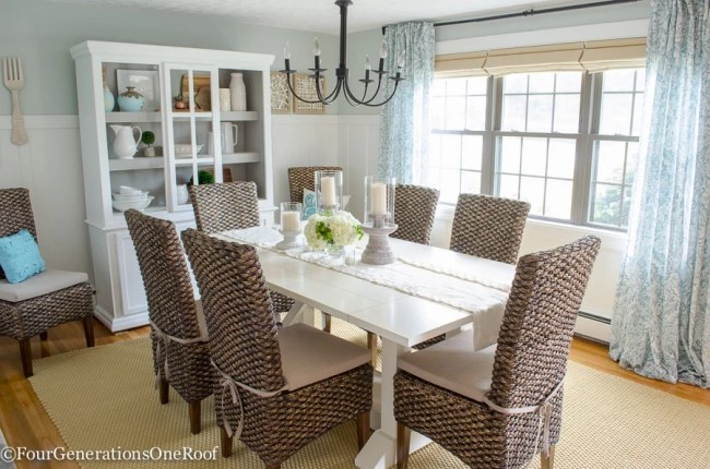 Dining Room Makeover {coastal}