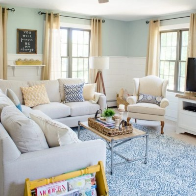 Family Room Summer Makeover