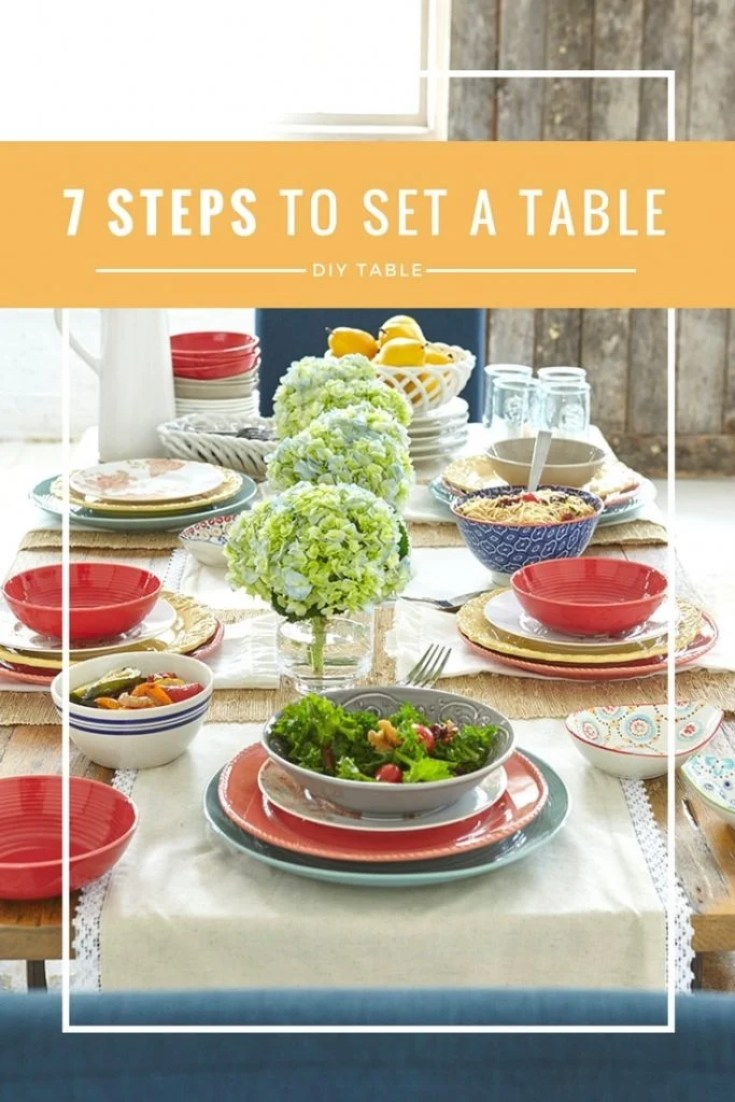 7 steps to set a table. How to set a table