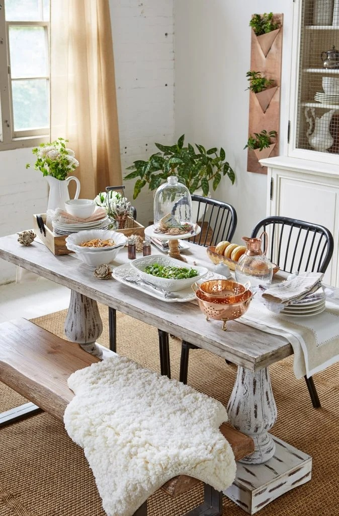 Modern Farmhouse Dining Room  Video HomeGoods photoshoot