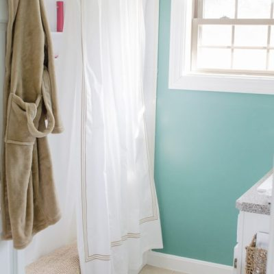 Mini Bathroom Makeover {Closet Makeover}