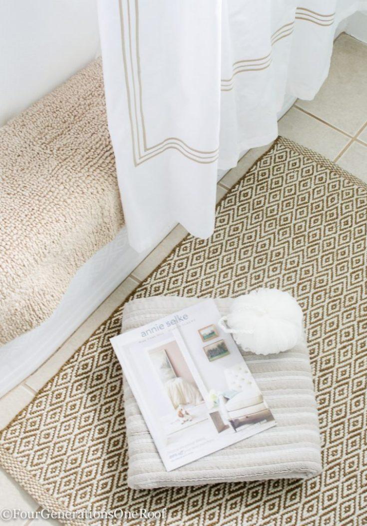 Mini Bathroom Makeover {Closet Makeover}