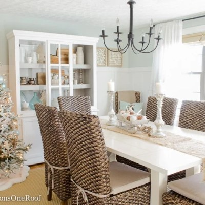 Our Coastal Christmas Dining Room