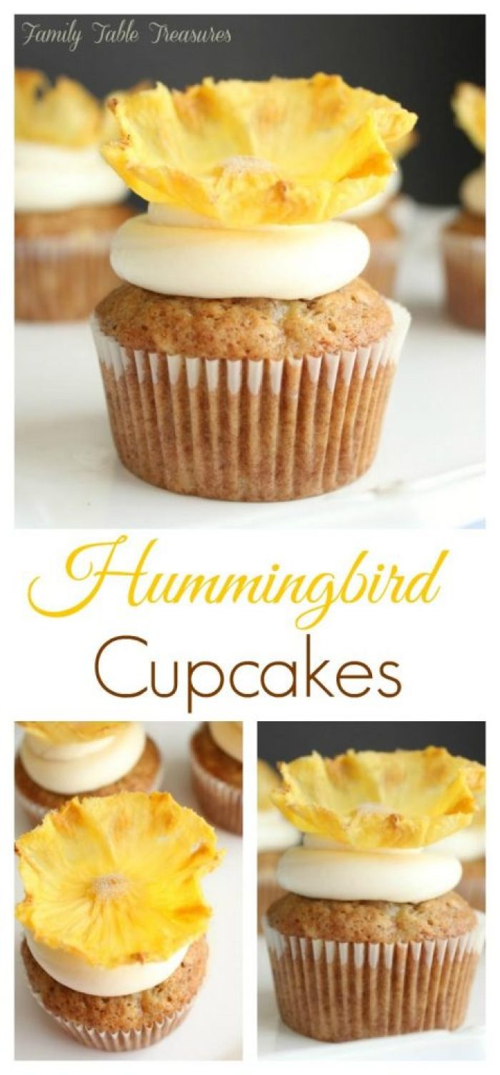 Delicious Hummingbird Cupcakes
