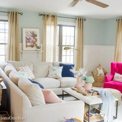 Living Room Blue Decorating Ideas Sideboards Pink Four Generations One Roof