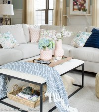 Blue + Pink Living Room Decorating Ideas - Four ...