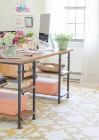 My Colorful Modern Farmhouse Office Decorating Ideas ...