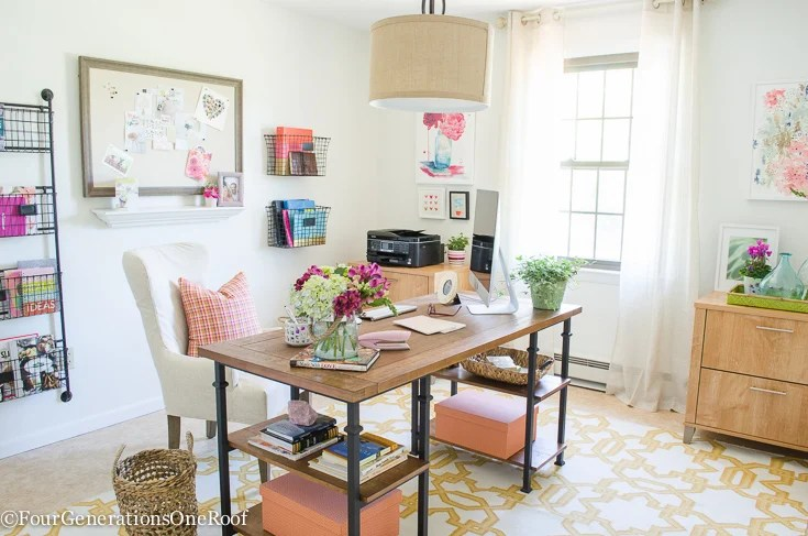 small living room/office decorating ideas