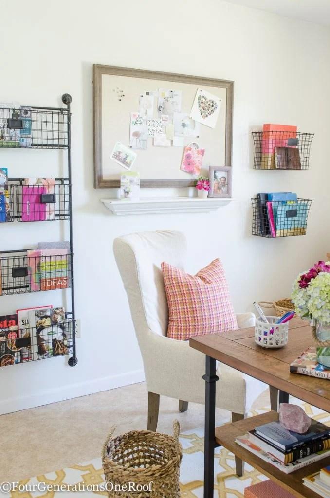 My Colorful Modern Farmhouse Office Decorating Ideas Four