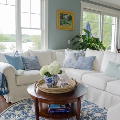 Pottery Barn Pictures Of Living Rooms Fireplace For Room Coastal On A Budget Four Generations One Roof