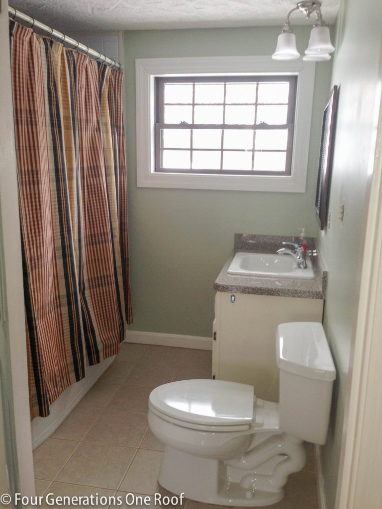 Budget Green Bathroom Spa Makeover