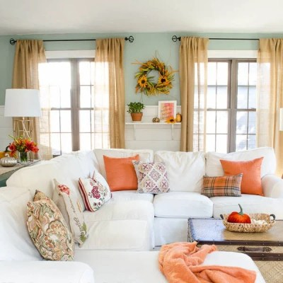 Pretty Orange Fall Decorating Ideas