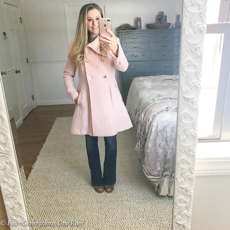 How to Wear a Winter Pink Coat