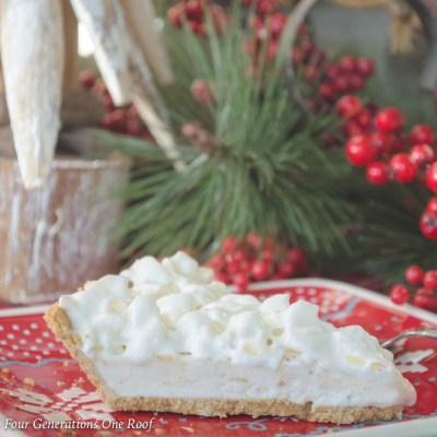 How to Make Christmas Eggnog Pie