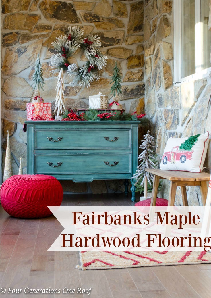 Beautiful New Maple Hardwood Flooring Foyer Entrance