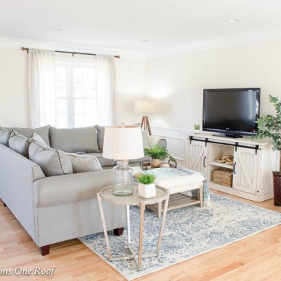Open Floor Plan House for Sale Staging Project {before & after}