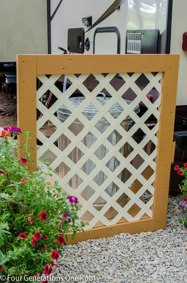How To Disguise Ugly AC Units or Garbage Barrels with a Lattice Privacy Screen