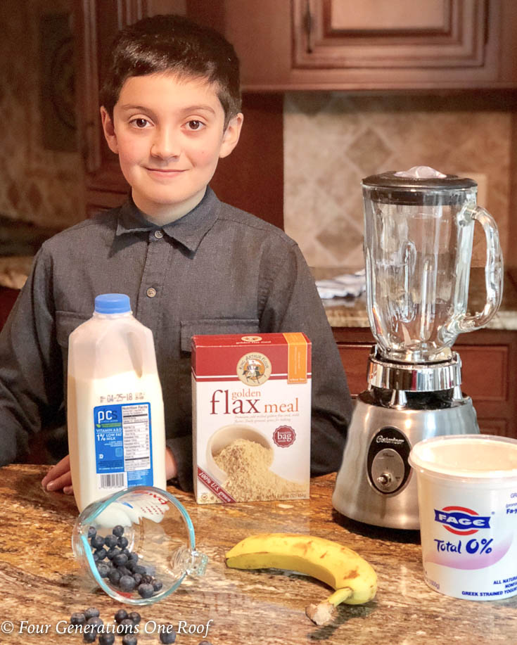 3 Minute Kids Blueberry Bliss Smoothie #kidscooking #smoothierecipe #blueberrysmoothie #smoothie #kidscook