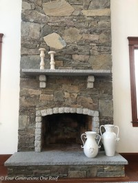 How to Remove a Granite Stone Mantel {our fireplace ...