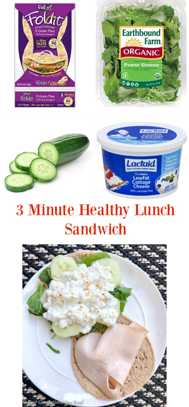 3 minute healthy lunch sandwich that I never thought I would eat {week 4 Fitness Journey}