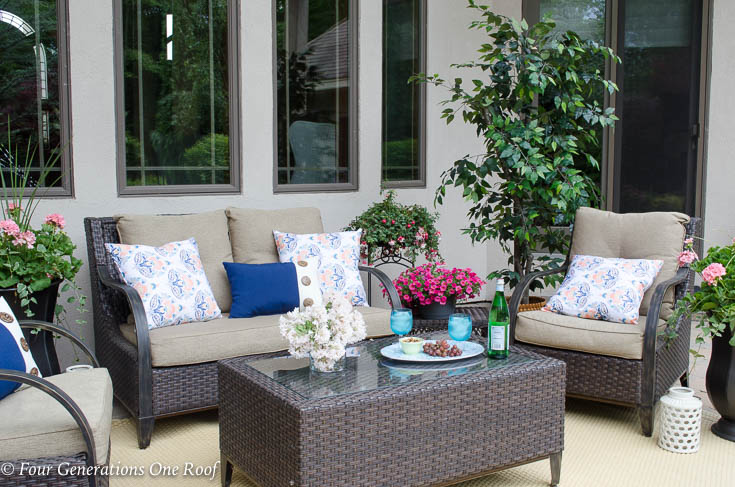 Big Backyard Patio Oasis Project Complete {Summer Patio Reveal}