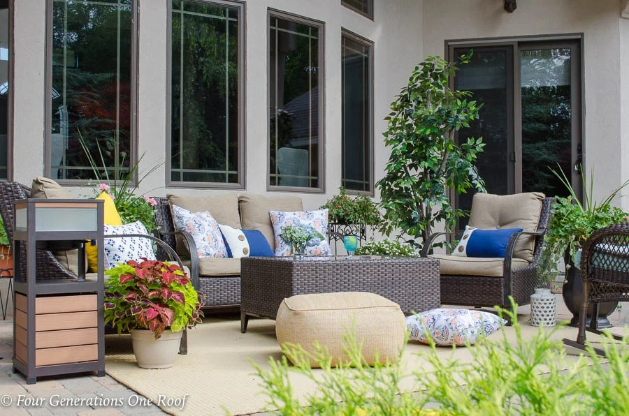 Covered porch furniture Outdoor Blue Tooth Solar Speaker Patio End Table Patio Furniture Ikea How To Spruce Up Patio With Solar Powered Outdoor Speaker Four