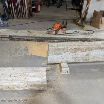 How To Stain Yellow Southern Pine Wooden Beam Mantel
