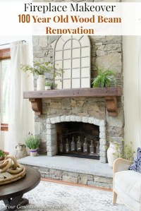 How To Hang A Wood Mantel on a Stone Fireplace using Rebar ...