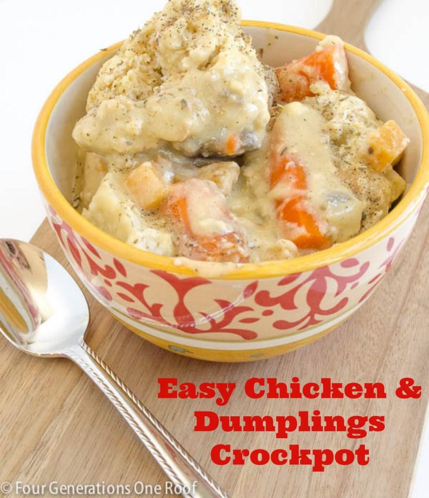 chicken and dumplings crockpot