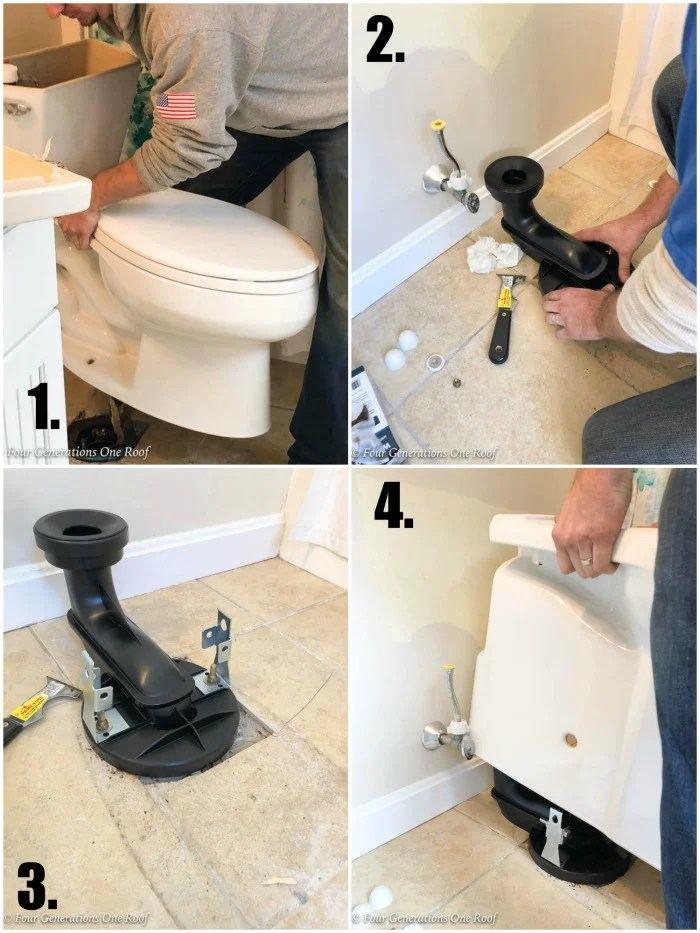 Narrow Bathroom Renovation Kohler Toilet Installation ContinuousClean