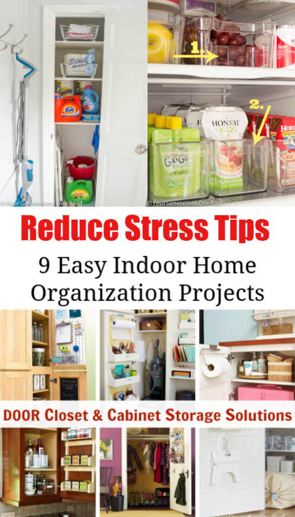 My 9 Indoor Home Organization Projects to reduce stress | bathroom organization, kitchen organization, drawer organization